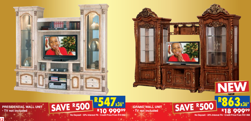 Presidential Wall Unit and Grand Wall Unit